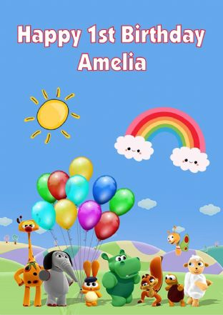 Personalised Baby TV Birthday Card